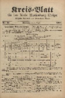 Kreis-Blatt für den Kreis Marienburg Westpreussen, 20. August, Nr 67.