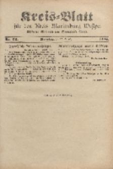 Kreis-Blatt für den Kreis Marienburg Westpreussen, 27. August, Nr 69.