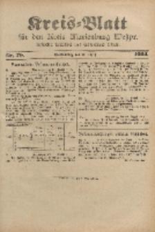 Kreis-Blatt für den Kreis Marienburg Westpreussen, 31. August, Nr 70.