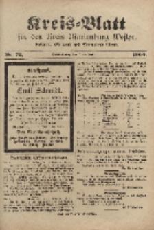 Kreis-Blatt für den Kreis Marienburg Westpreussen, 7. September, Nr 72.