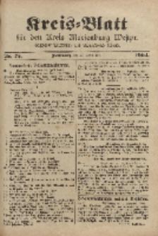 Kreis-Blatt für den Kreis Marienburg Westpreussen, 17. September, Nr 75.
