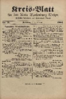 Kreis-Blatt für den Kreis Marienburg Westpreussen, 21. September, Nr 76.