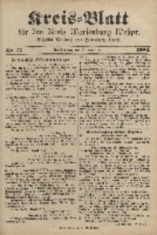 Kreis-Blatt für den Kreis Marienburg Westpreussen, 24. September, Nr 77.