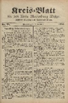 Kreis-Blatt für den Kreis Marienburg Westpreussen, 28. September, Nr 78.