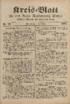 Kreis-Blatt für den Kreis Marienburg Westpreussen, 1. Oktober, Nr 79.