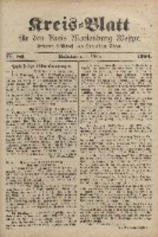 Kreis-Blatt für den Kreis Marienburg Westpreussen, 5. Oktober, Nr 80.