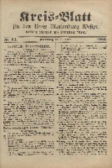 Kreis-Blatt für den Kreis Marienburg Westpreussen, 22. Oktober, Nr 84.