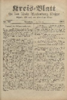 Kreis-Blatt für den Kreis Marienburg Westpreussen, 2. November, Nr 87.
