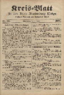 Kreis-Blatt für den Kreis Marienburg Westpreussen, 5. November, Nr 88.