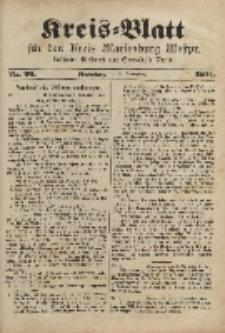 Kreis-Blatt für den Kreis Marienburg Westpreussen, 12. November, Nr 90.