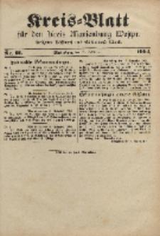 Kreis-Blatt für den Kreis Marienburg Westpreussen, 19. November, Nr 91.