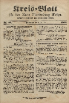 Kreis-Blatt für den Kreis Marienburg Westpreussen, 3. Dezember, Nr 95.
