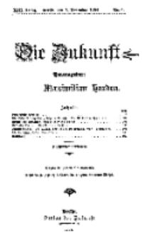 Die Zukunft, 5. November, Jahrg. XIII, Bd. 49, Nr 6.