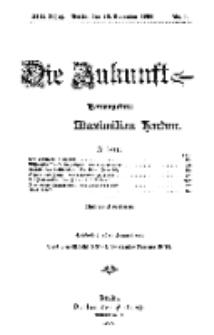 Die Zukunft, 26. November, Jahrg. XIII, Bd. 49, Nr 9.