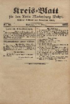 Kreis-Blatt für den Kreis Marienburg Westpreussen, 15. Februar, Nr 12.