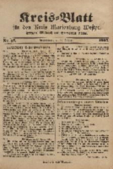 Kreis-Blatt für den Kreis Marienburg Westpreussen, 25. Februar, Nr 15.