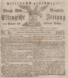 Elbingsche Zeitung, No. 41 Donnerstag, 22 Mai 1823