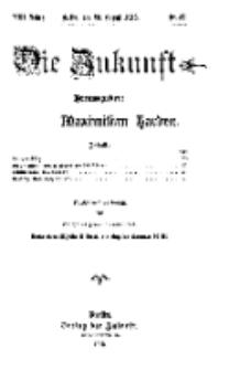 Die Zukunft, 23. August, Jahrg. XXI, Bd. 84, Nr 47.