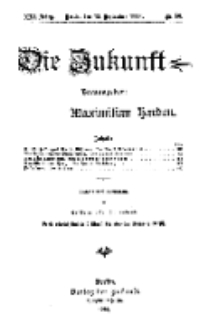 Die Zukunft, 13. September, Jahrg. XXI, Bd. 84, Nr 50.