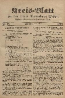 Kreis-Blatt für den Kreis Marienburg Westpreussen, 8. März, Nr 18.