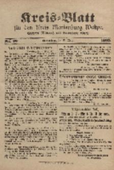 Kreis-Blatt für den Kreis Marienburg Westpreussen, 15. März, Nr 20.
