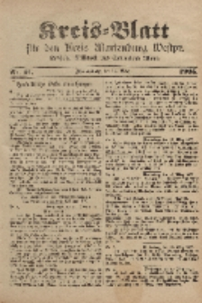 Kreis-Blatt für den Kreis Marienburg Westpreussen, 18. März, Nr 21.