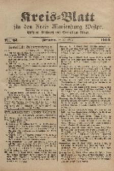 Kreis-Blatt für den Kreis Marienburg Westpreussen, 22. März, Nr 22.