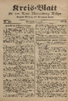 Kreis-Blatt für den Kreis Marienburg Westpreussen, 1. April, Nr 25.