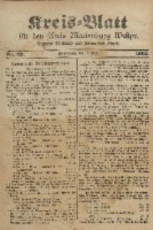 Kreis-Blatt für den Kreis Marienburg Westpreussen, 15. April, Nr 29.