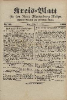 Kreis-Blatt für den Kreis Marienburg Westpreussen, 10. Mai, Nr 36.