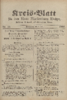 Kreis-Blatt für den Kreis Marienburg Westpreussen, 3. Juni, Nr 43.