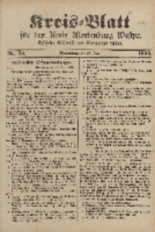 Kreis-Blatt für den Kreis Marienburg Westpreussen, 28. Juni, Nr 50.