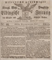 Elbingsche Zeitung, No. 46 Montag, 9 Juni 1823