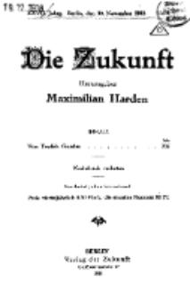 Die Zukunft, 30. November, Jahrg. XXVII, Bd. 103, [Nr 8].