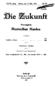 Die Zukunft, 17. Mai, Jahrg. XXVII, Bd. 105, Nr 32.