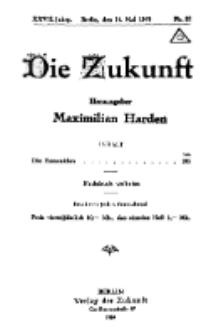 Die Zukunft, 24. Mai, Jahrg. XXVII, Bd. 105, Nr 33.