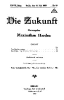 Die Zukunft, 31. Mai, Jahrg. XXVII, Bd. 105, Nr 34.