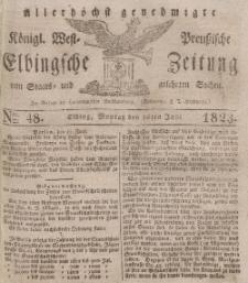 Elbingsche Zeitung, No. 48 Montag, 16 Juni 1823