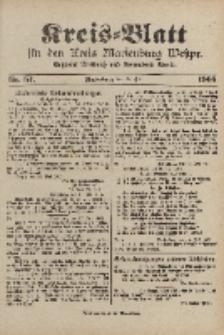Kreis-Blatt für den Kreis Marienburg Westpreussen, 22. Juli, Nr 57.