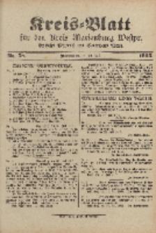 Kreis-Blatt für den Kreis Marienburg Westpreussen, 26. Juli, Nr 58.