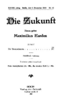 Die Zukunft, 6. Dezember, Jahrg. XXVIII, Bd. 107, Nr 10.