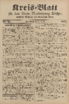 Kreis-Blatt für den Kreis Marienburg Westpreussen, 26. August, Nr 67.