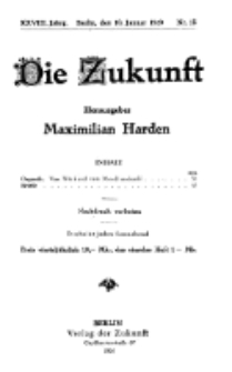 Die Zukunft, 10. Januar, Jahrg. XXVIII, Bd. 108, Nr 15.
