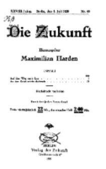 Die Zukunft, 3. Juli, Jahrg. XXVIII, Bd. 110, Nr 40.