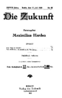 Die Zukunft, 17. Juli, Jahrg. XXVIII, Bd. 110, Nr 42.