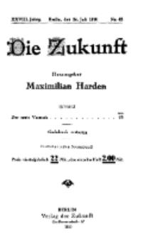 Die Zukunft, 24. Juli, Jahrg. XXVIII, Bd. 110, Nr 43.
