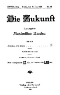 Die Zukunft, 31. Juli, Jahrg. XXVIII, Bd. 110, Nr 44.