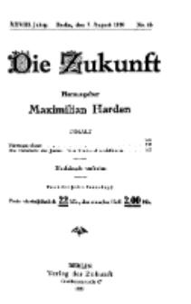Die Zukunft, 7. August, Jahrg. XXVIII, Bd. 110, Nr 45.
