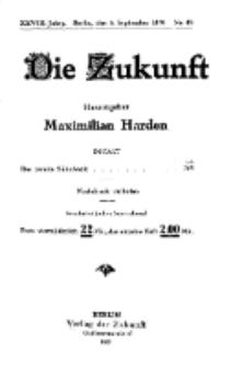 Die Zukunft, 4. September, Jahrg. XXVIII, Bd. 110, Nr 49.
