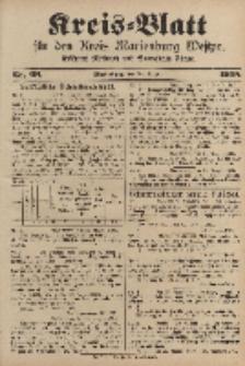 Kreis-Blatt für den Kreis Marienburg Westpreussen, 30. August, Nr 68.
